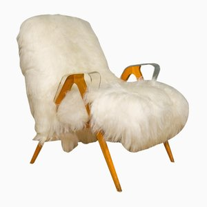 Sheepskin Tatra Armchair from Antonin Suman, 1970s