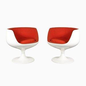 Cognacfarbene Stühle von Eero Aarnio für Asko, 1960er, 2er Set