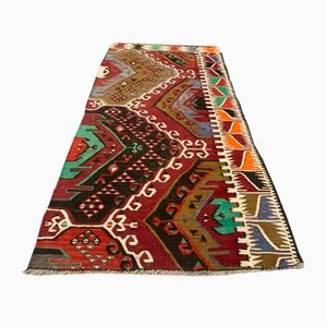 Small Vintage Turkish Shabby Kilim Rug, 1960s