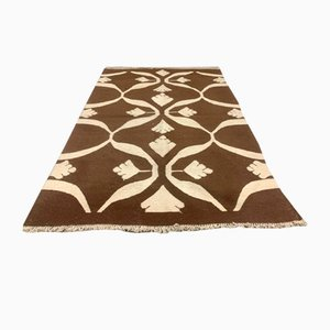 Vintage Turkish Brown Shabby Kilim Rug, 1960s