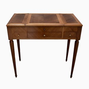 Small Antique Louis XVI Walnut Dressing Table