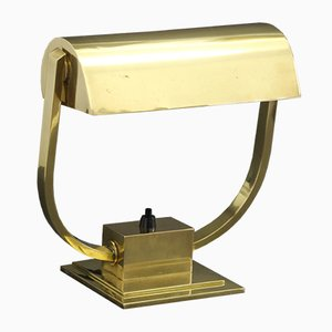 Vintage French Brass Adjustable Table Lamp