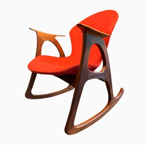Mid-Century Teak Rocking Chair by Aage Christiansen for Erhardsen & Andersen