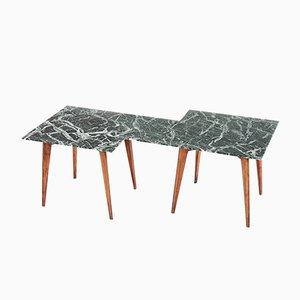 Tavolino da caffè geometrico in marmo di Gio Ponti, Italia, anni '40