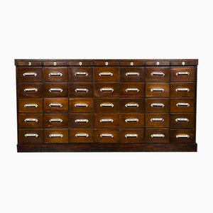 Large Antique Bank of Pharmacy Drawers