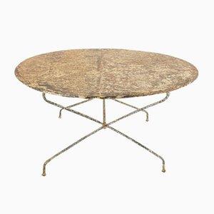 Großer Französischer Schmiedeeisen Tisch, 1920er