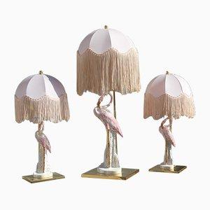 Italienische Flamingo Tischlampen, 1970er, 3er Set