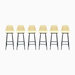 Mid-Century Bar Stools by Dirk van Sliedregt for Rohé Noordwolde, 1960s, Set of 6