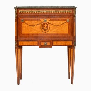 Antique Swedish Rosewood and Marble Secretaire
