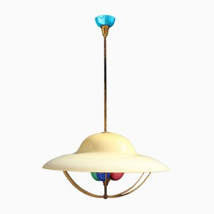 Murano Glass Ceiling Lamp, 1950s