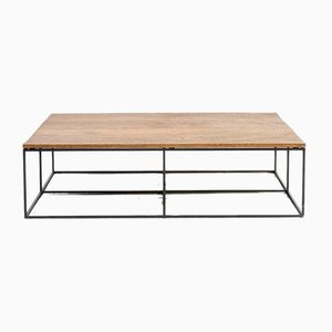 Oak and Metal Model Log Coffee Table by Roderick Vos for Linteloo