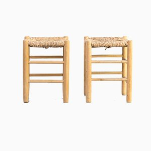 Dordogne Stools by Charlotte Perriand for Sentou, 1960s, Set of 2
