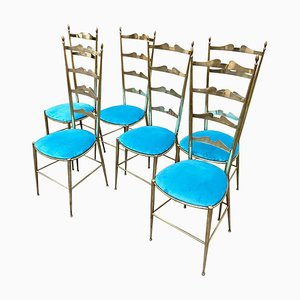 Mid-Century Italian Chairs from Chiavari, 1950s, Set of 6
