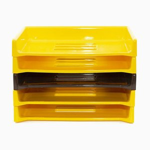Yellow Model Eva Desktop Organizer by Raymond Loewy for Armor