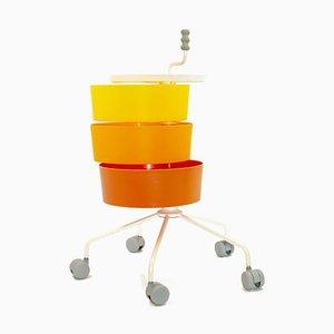 Orangefarbener Servierwagen von Ikea