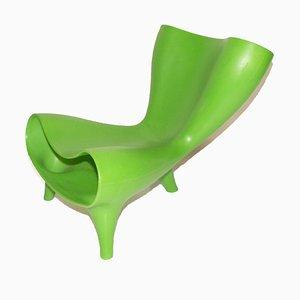 Grüner Orgon Stuhl von Marc Newson