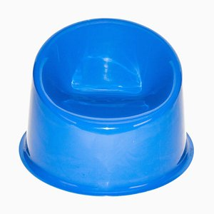 Space Age Style Blue Panto Pop Armchair by Verner Panton, 2000s