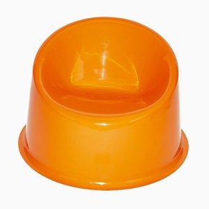 Orangefarbener Panto Pop Sessel von Verner Panton
