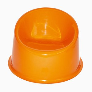 Space Age Style Orange Panto Pop Armchair by Verner Panton, 2000s