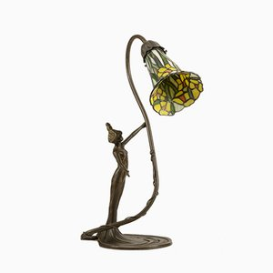 Italian Bronze Sculpture Table Lamp, 1990s