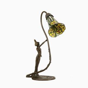 Italienische Bronze Skulptur Tischlampe, 1990er