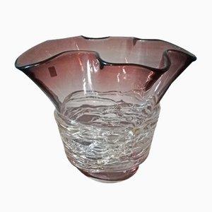 Burgunderrote Vase von Sergio Costantini