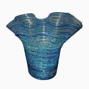 Azurblaue Vase von Sergio Costantini