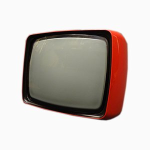Roter Vintage Fernseher