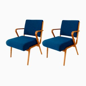 German Armchairs by Selman Selmanagic for VEB Deutsche Werkstätten Hellerau, 1960s, Set of 2