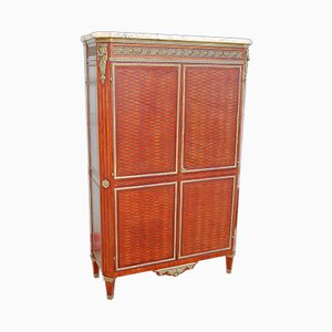 Antique Louis XVI Rosewood, Marquetry & Gilt Bronze Wardrobe