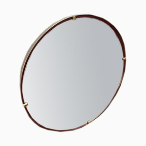Round Brass Mirror from Santambrogio & Deberti, 1950s
