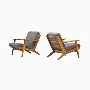 GE-290 Lounge Chairs by Hans J. Wegner for Getama, 1950s, Set of 2