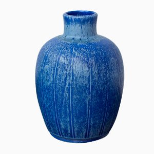 Swedish Stoneware Vase by Eva Jancke-Björk for Bo Fajans, 1940s