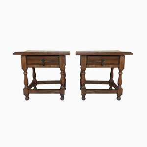 Spanish Nightstands, 1920s, Set of 2