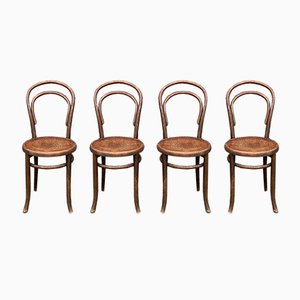 Vintage Dining Chairs, 1940s, Set of 4