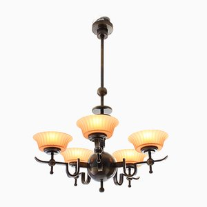Vintage Swedish Ceiling Lamp from Orrefors, 1930s