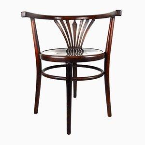 Antiker Armlehnstuhl aus Bugholz von Fischel