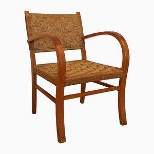 Mid-Century Sessel aus Holz und Seil, 1950er