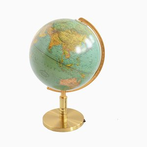 Mid-Century German Illuminated Globe from Paul Oestergaard, 1970s