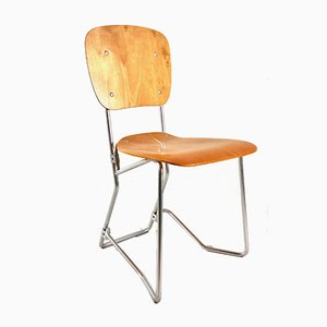 Mid-Century Model Aluflex Folding Chair by Armin Wirth for Hans Zollinger Sohre, 1950s