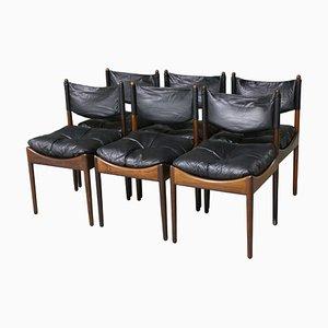 Mid-Century Palisander Esszimmerstühle von Kristian Vedel für Søren Willadsen Møbelfabrik, 6er Set