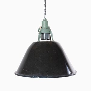 Large Vintage Industrial Enamel Ceiling Lamp, 1960s