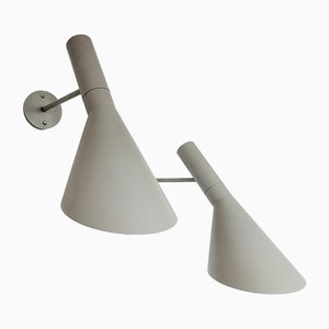 Mid-Century Danish Model AJ Visor Sconces by Arne Jacobsen for Louis Poulsen, 1950s, Set of 2
