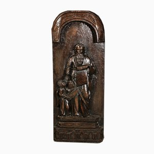 Large Religious Oak Carved Sculpture