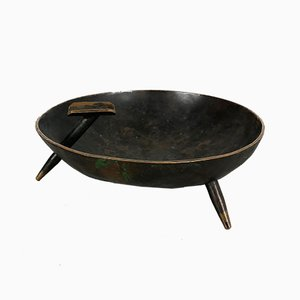 Vintage Austrian Copper Tripod Ashtray, 1950s