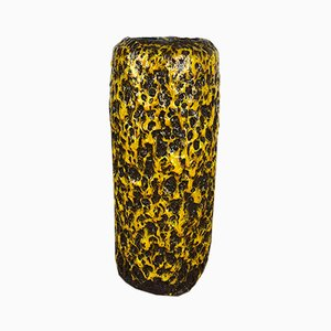 Gelbe Vintage Fat Lava Vase von Scheurich, 1970er