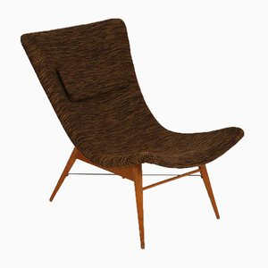 Mid-Century Czech Fiberglass Lounge Chair by Miroslav Navratil, 1950s