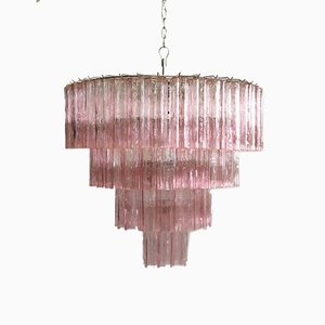 Murano Glass Tiered Chandelier from Mazzega, 1980s