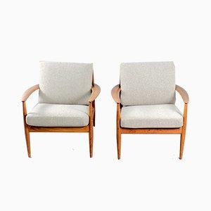 Mid-Century Danish Teak Lounge Chairs by Grete Jalk for France & Søn / France & Daverkosen, Set of 2