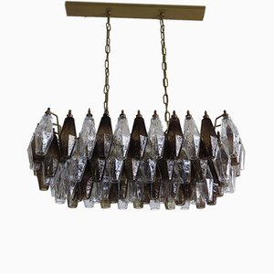 Vintage Italian Glass Chandelier, 1970s